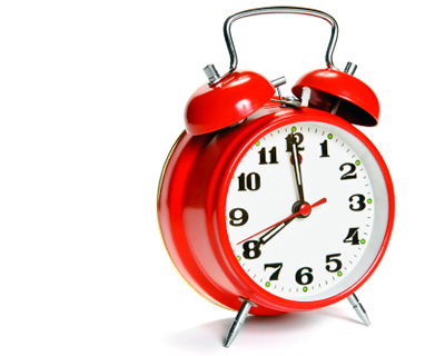 Red Alram Clock Demonstrating SEO taking time.