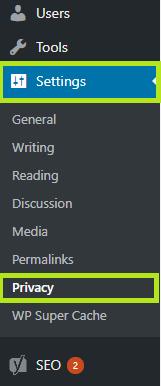 GDPR compliant settings