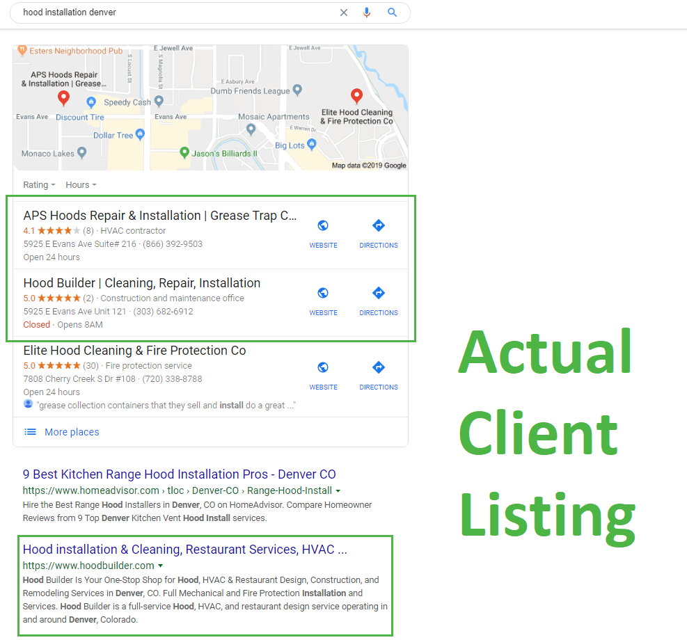 Actual Client Listing
