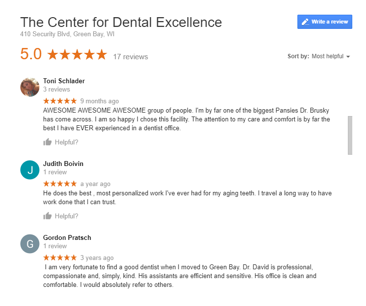 Dentists Reviews Good for SEO